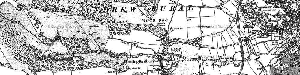 Old map of Hertingfordbury in 1896