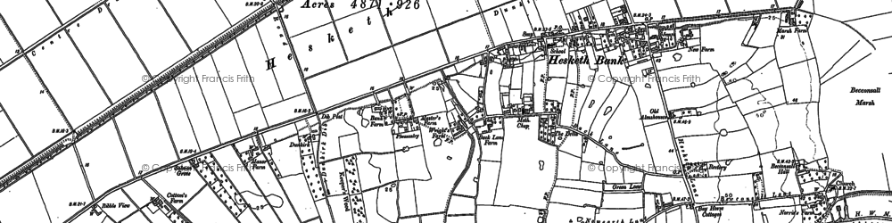 Old map of Becconsall in 1892
