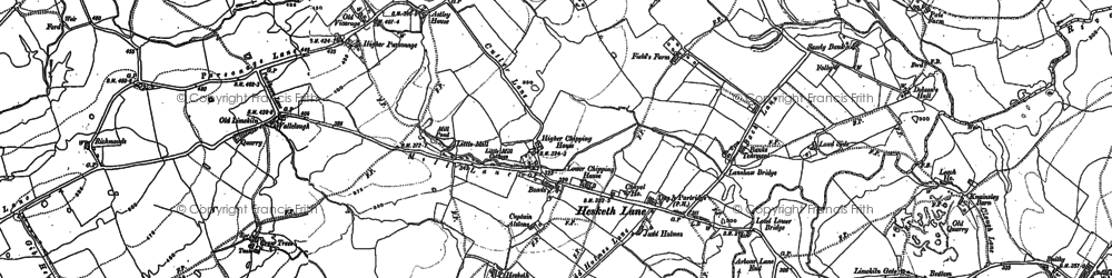 Old map of Astley Ho in 1892