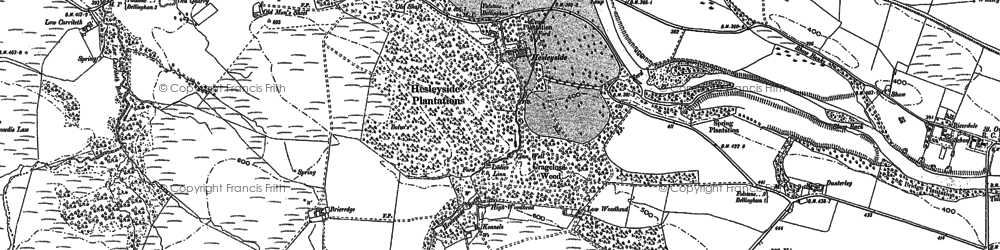 Old map of Whitchester Moor in 1895