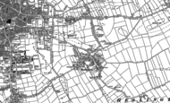 Old Map of Heslington, 1890