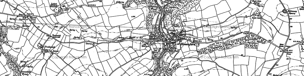 Old map of Bake Wood in 1881
