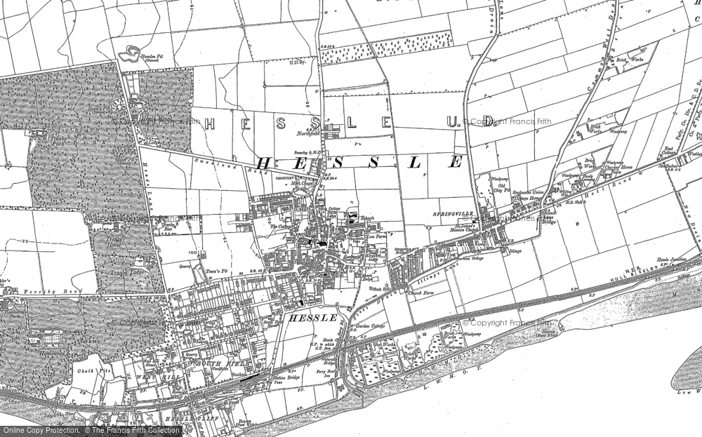 Old Map of Hessle, 1908 in 1908