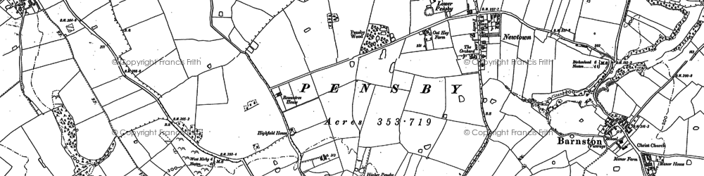 Old map of Heswall in 1898