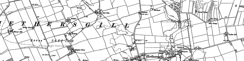Old map of Whinny Brow in 1899
