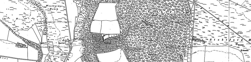 Old map of Woolbridge Heath in 1886