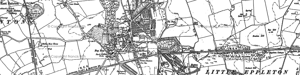 Old map of Hetton-Le-Hole in 1895