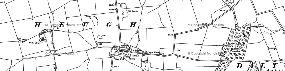 Old map of Westerheugh in 1895