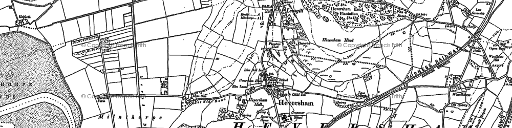 Old map of Heversham in 1897