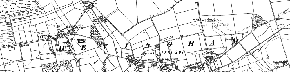 Old map of Westgate Street in 1885
