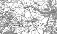 Old Map of Hewelsfield, 1900