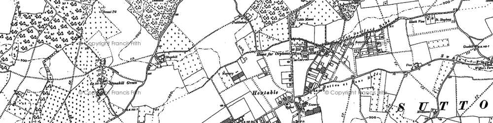 Old map of Hextable in 1895