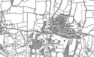 Old Map of Hexton, 1899
