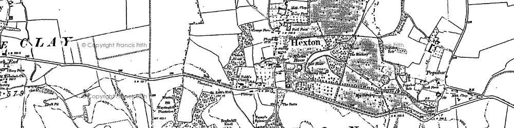 Old map of Hexton in 1899