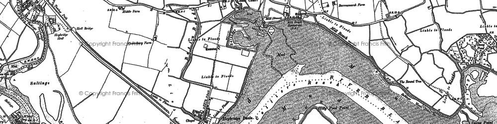 Old map of Limbourne Creek in 1895