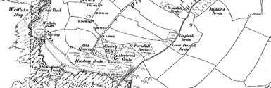 Old map of Andurn Point centred on your home