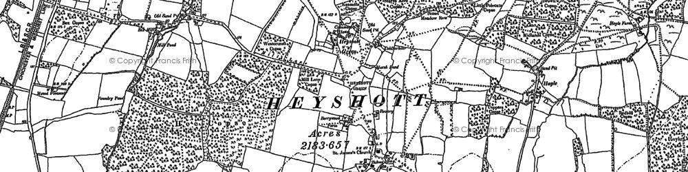 Old map of Heyshott in 1896