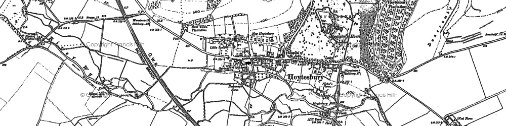 Old map of Heytesbury in 1899