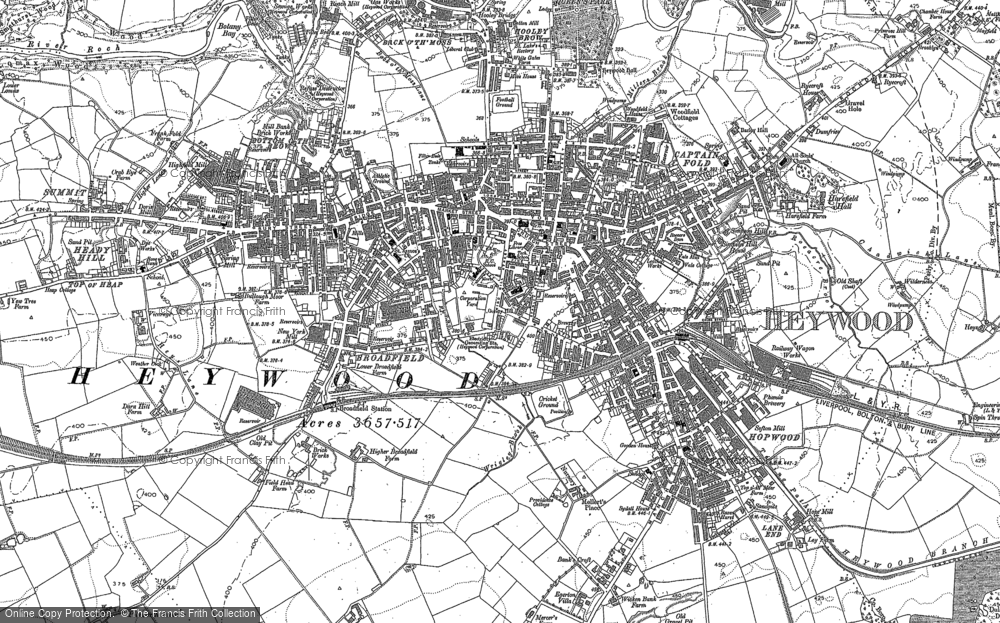Map of Heywood, 1890 - 1891