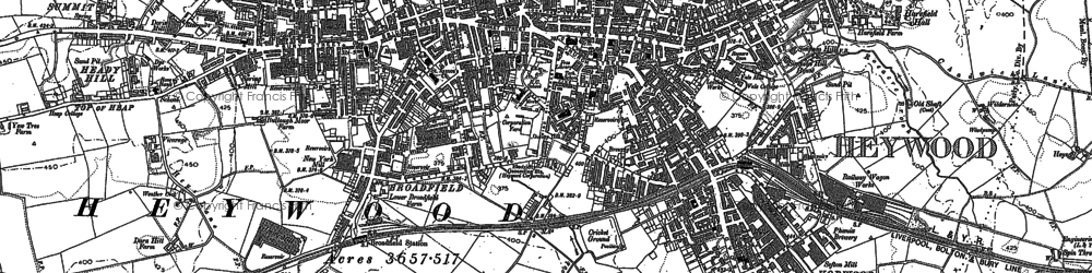 Old map of Lane End in 1890
