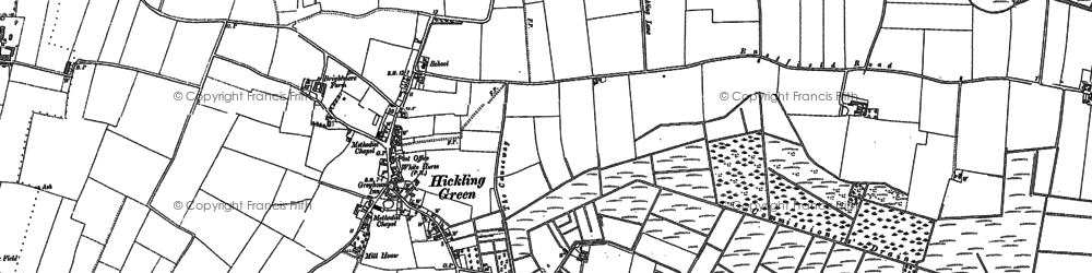 Old map of White Slea in 1905