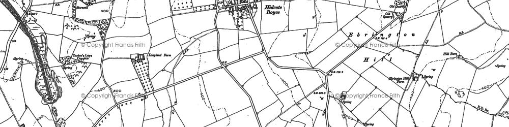 Old map of Baker's Hill in 1900