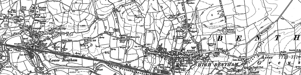 Old map of High Bentham in 1907