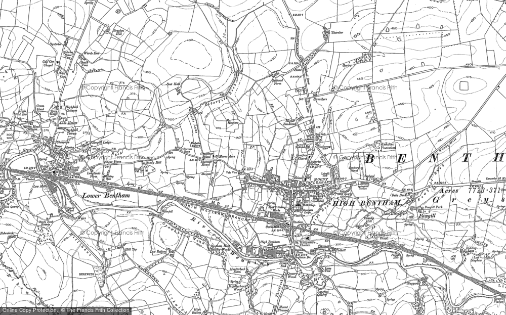 Old Map of Historic Map covering Langber in 1907