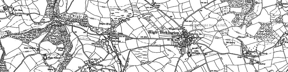 Old map of Bale's Ash in 1886
