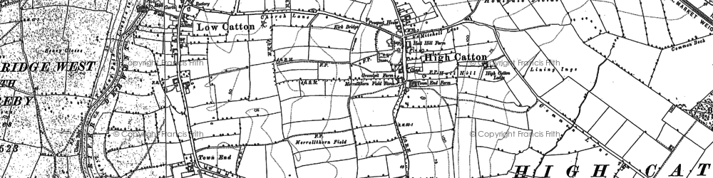 Old map of Whinberry Hill in 1891
