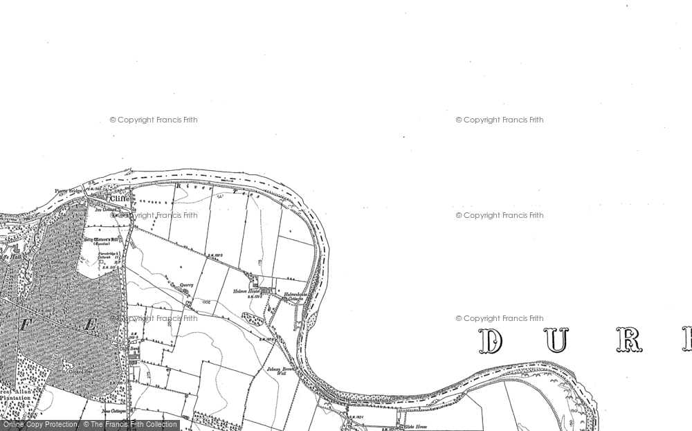 Old Map of Historic Map covering Lark Ho in 1912