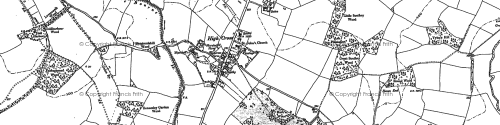 Old map of Standon Green End in 1895