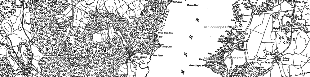 Old map of Ling Holme in 1912