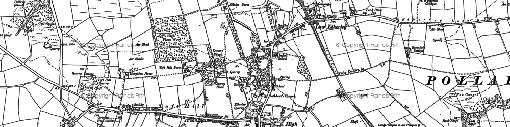 Old map of High Etherley in 1896
