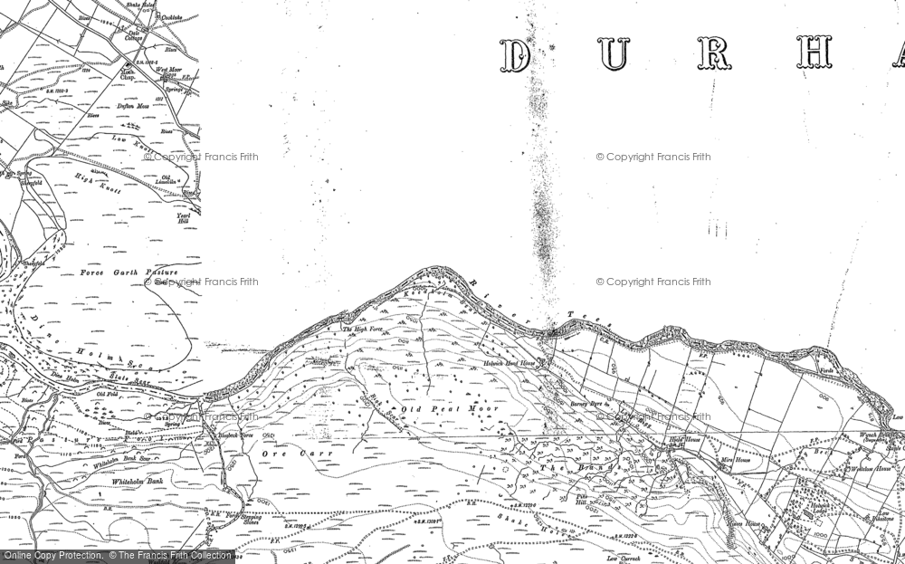 Old Map of Historic Map covering Ash Hill in 1912