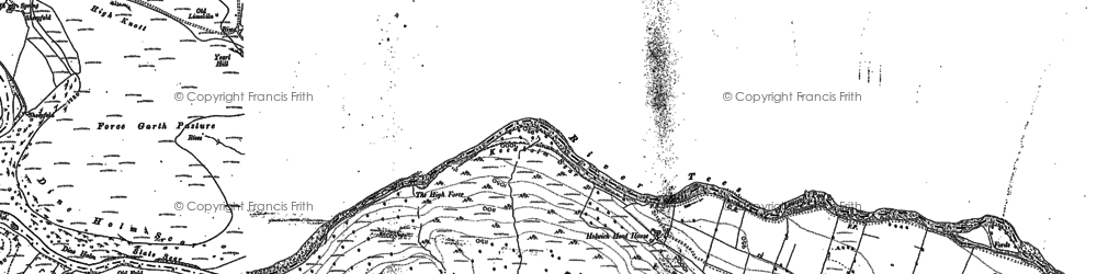 Old map of Ashdub in 1912