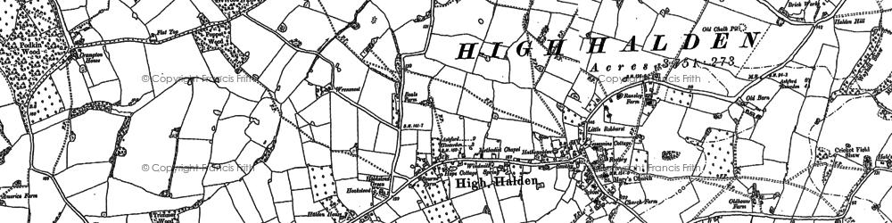 Old map of High Halden in 1896