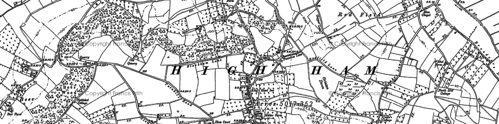 Old map of High Ham in 1885