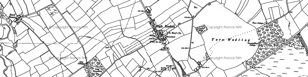 Old map of Ling Cotts in 1898