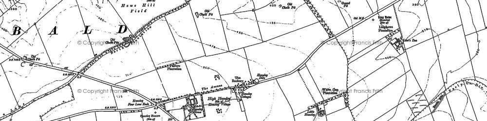 Old map of Lion's Den in 1888