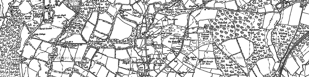 Old map of High Hurstwood in 1873