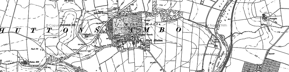Old map of High Hutton in 1888