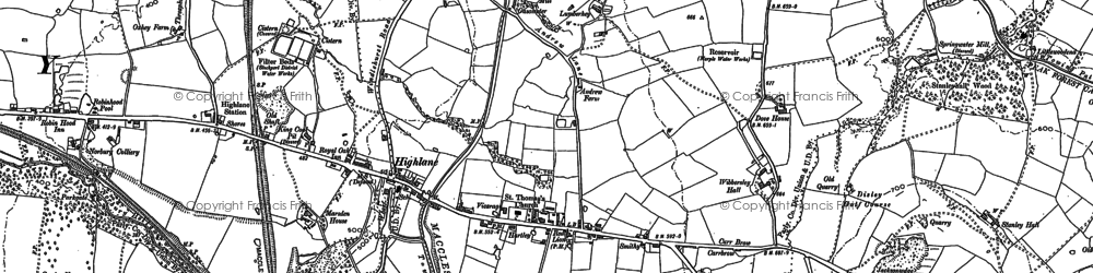Old map of Wybersley Hall in 1907