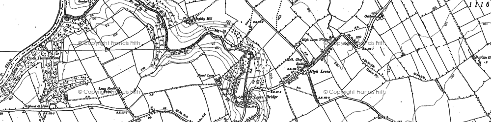 Old map of Leven Bridge in 1913