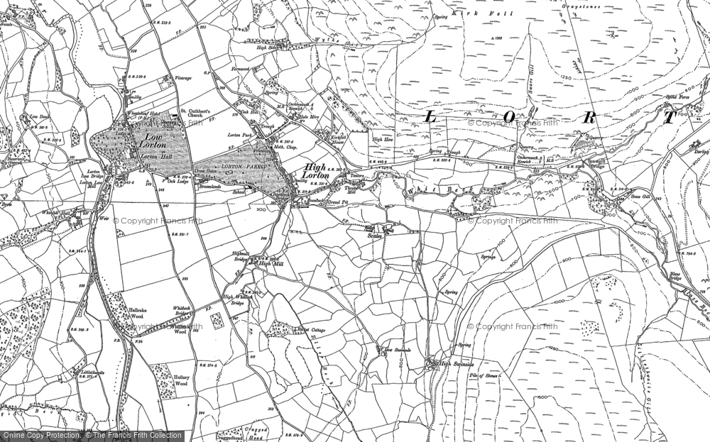 Old Map of Historic Map covering Whit Beck in 1898