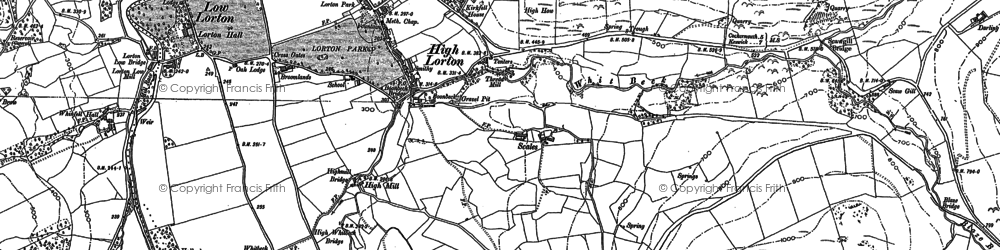 Old map of Whit Beck in 1898