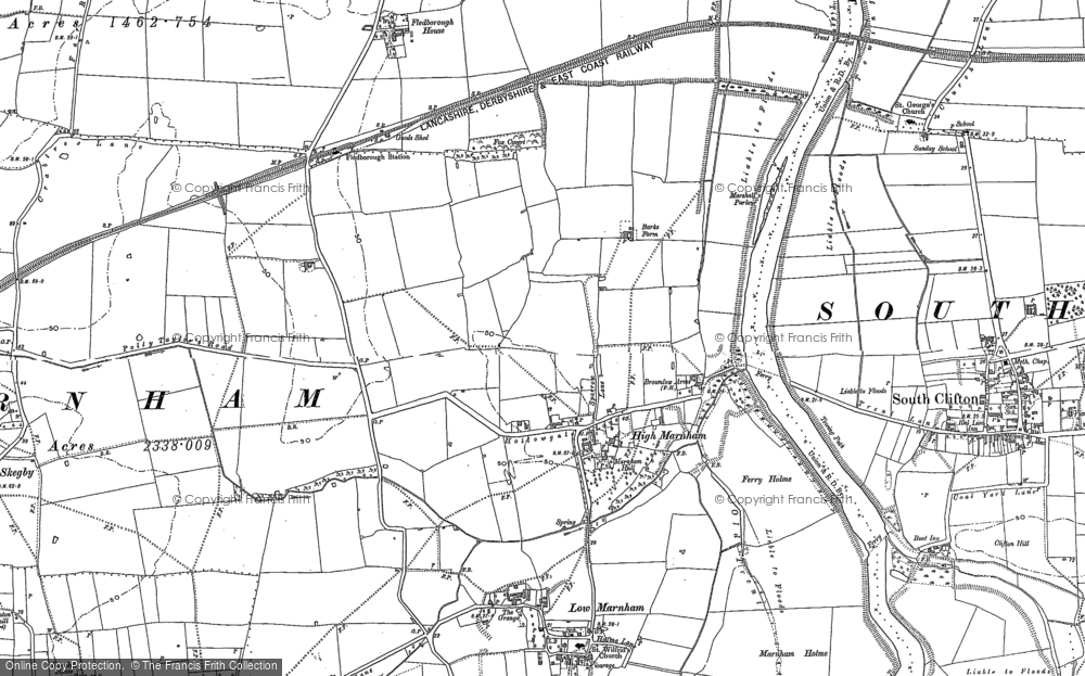 Old Map of High Marnham, 1895 - 1914 in 1895