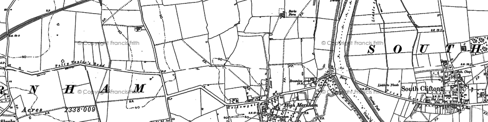 Old map of High Marnham in 1895