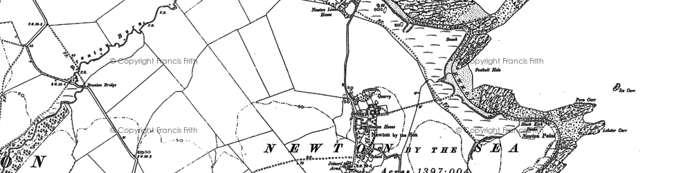 Old map of Whittingham Carr in 1896