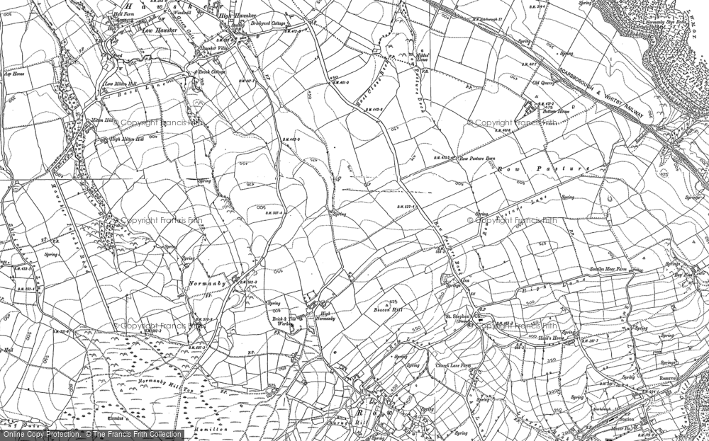 Old Map of Historic Map covering Latter Gate Hills in 1892